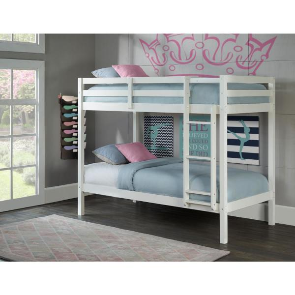 Twin Loft Bed.Hillsdale Furniture Caspian White Twin Over Twin Bunk Bed 2179 021