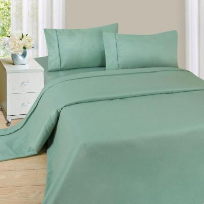 1200 Series 4-Piece Sage 75 GSM Queen Microfiber Sheet Set