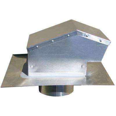 4 in. Aluminum Roof Cap with Removable Screen, Backdraft Damper and 4 in. Collar
