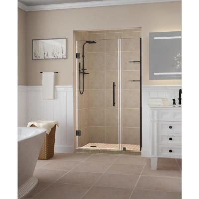 Aston Belmore Gs 47 25 In To 48 25 In X 72 In Frameless Hinged Shower Door With Glass Shelves In Oil Rubbed Bronze Sdr960ez Orb 4826 10 The Home Depot