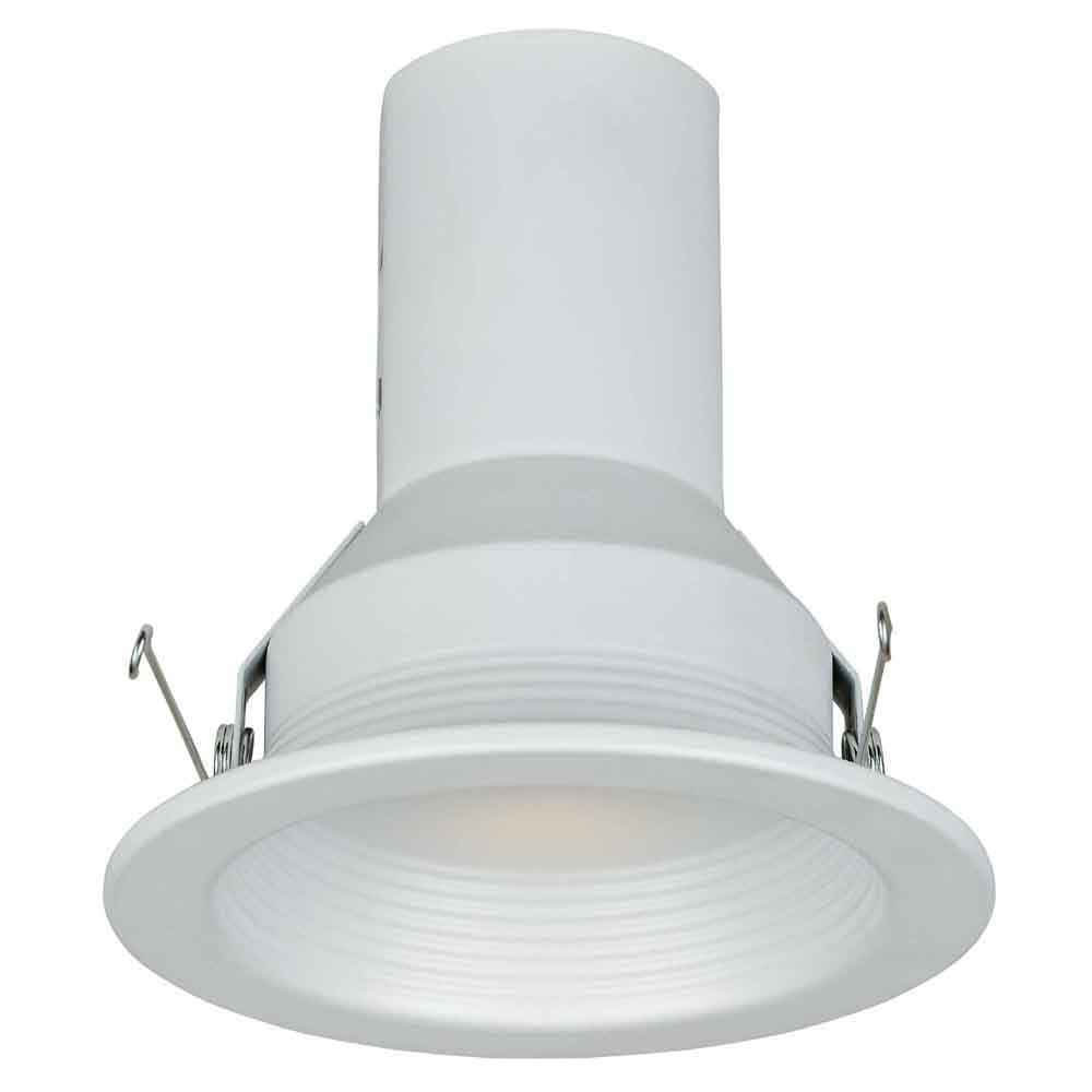 Commercial Electric 5 In White Recessed Baffle Trim 6 Pack