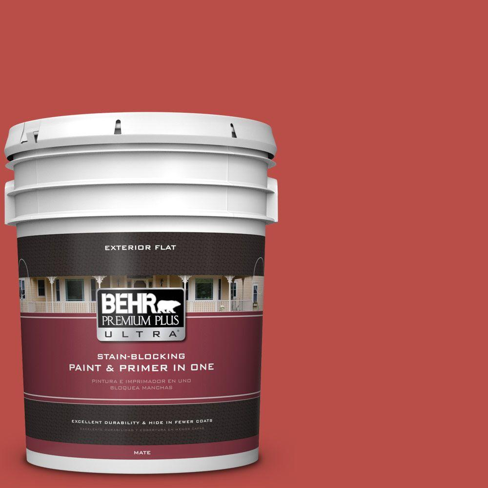 BEHR Premium Plus Ultra Home Decorators Collection 5-gal. #HDC-MD-16 Cherry Red Flat Exterior Paint