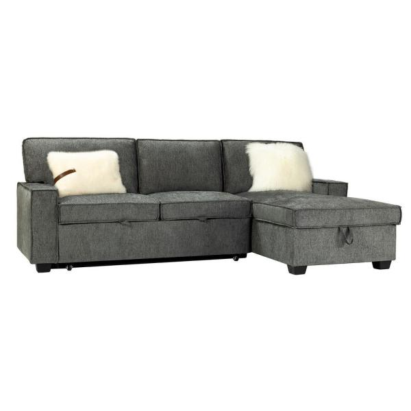 Zavier Grey Pull Out Sleeper Sectional