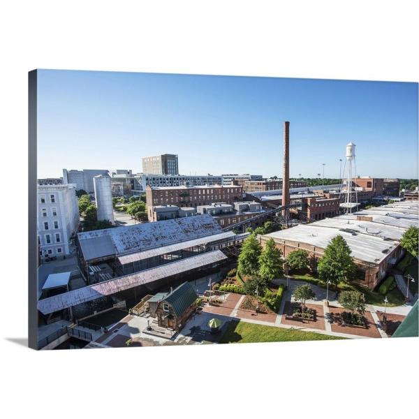 GreatBigCanvas ''Aerial view of the warehouses at the American Tobacco Historic