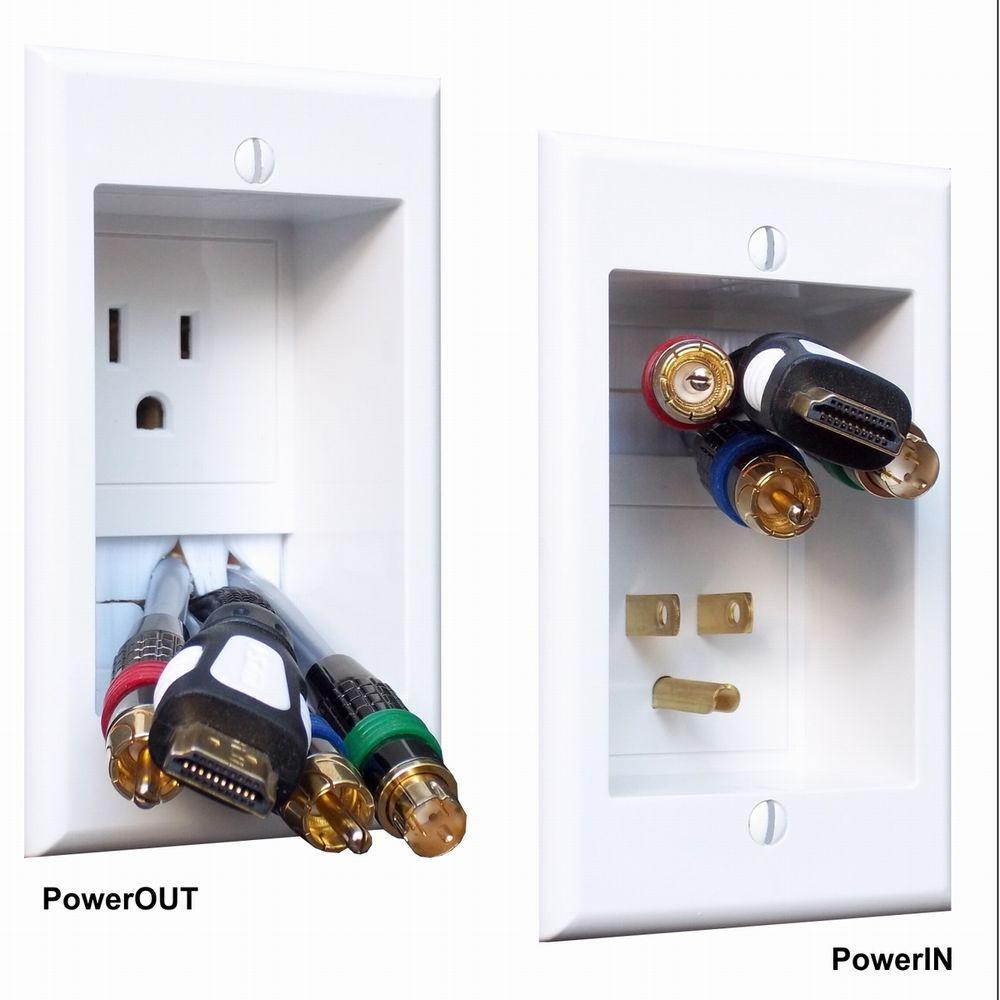 PowerBridge In-Wall Power Connection Kit with Single Power and Cable ...