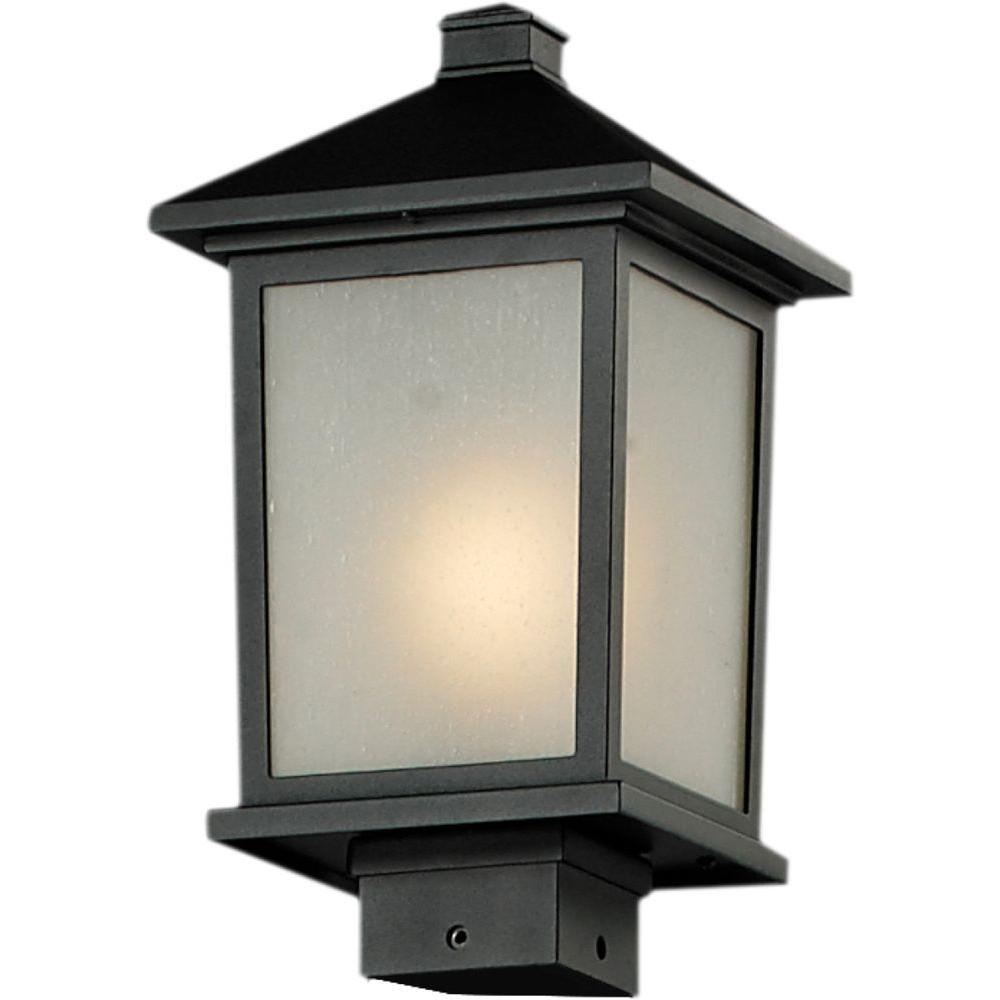 Filament Design Lawrence 1-Light Outdoor Black Post Mount Light