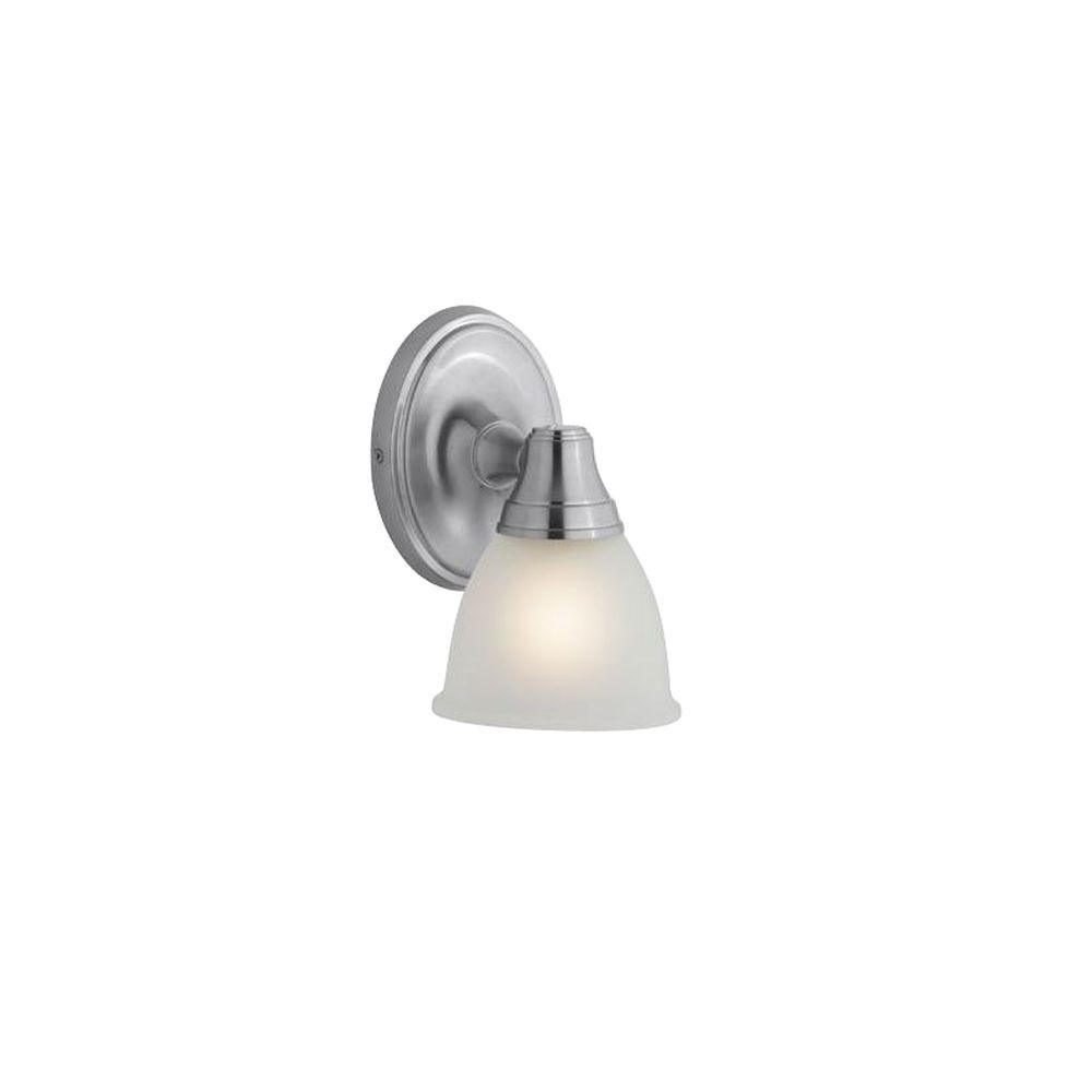 KOHLER Forte 1-Light Brushed Chrome LED Wall Sconce