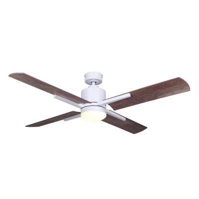 Loxley 52 in. Integrated LED Indoor White Dual Mount Ceiling Fan with Light Kit and Remote Control