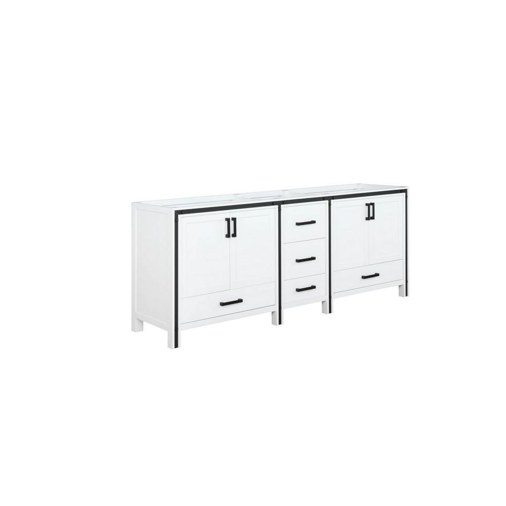 Ziva 79 in. W x 21.5 in. D x 34.25 in. H Bath Vanity Cabinet Only in White