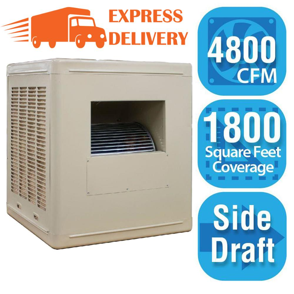 4,800 CFM Side-Draft Aspen Roof/Side Evap Cooler (Swamp Cooler) for 18