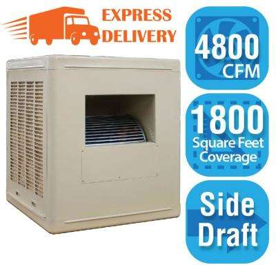 4,800 CFM Side-Draft Aspen Roof/Side Evap Cooler (Swamp Cooler) for 18 in. Ducts 1,800 sq. ft. (Motor Not Included)