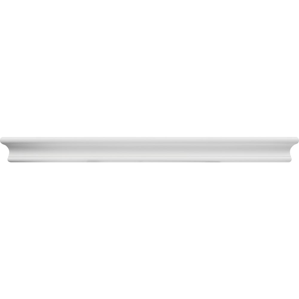 24 in. White Tool Free Floating Shelf