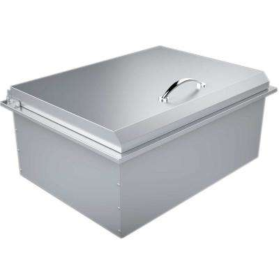 28 in. 304 Stainless Steel Drop-In Extra-Large Ice Chest