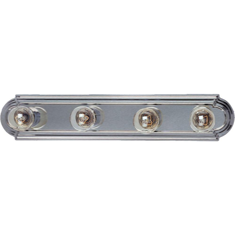 Maxim Lighting Essentials 4-Light Satin Nickel Bath Vanity Light