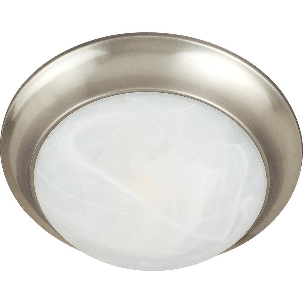 Essentials 3-Light Satin Nickel Flush Mount