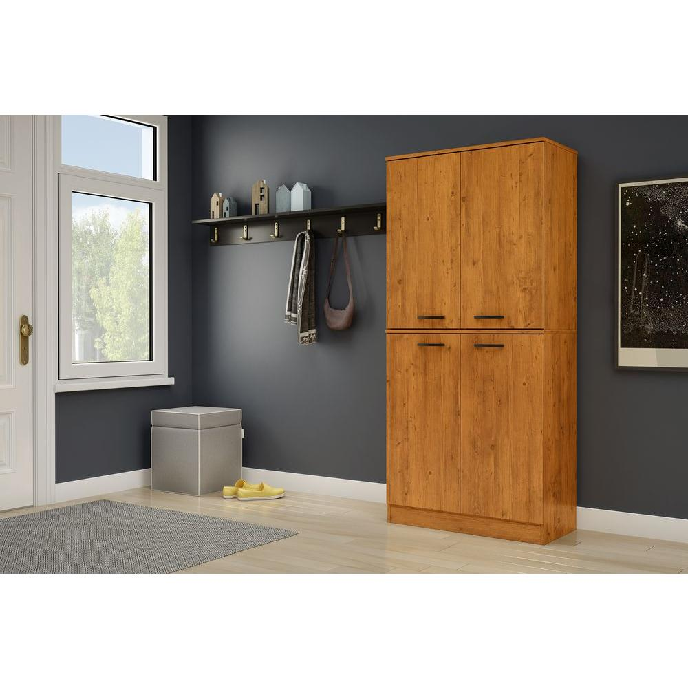 Home Depot Pine Kitchen Cabinets: South Shore Axess Country Pine Storage Cabinet-10187