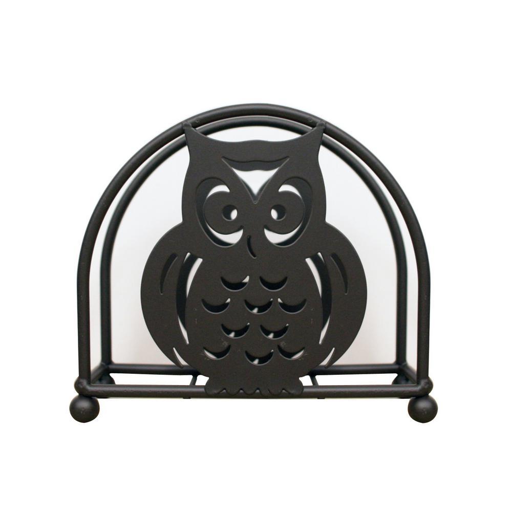 6 in. x 5.25 in. x 2 in. Owl Napkin Holder in Bronze