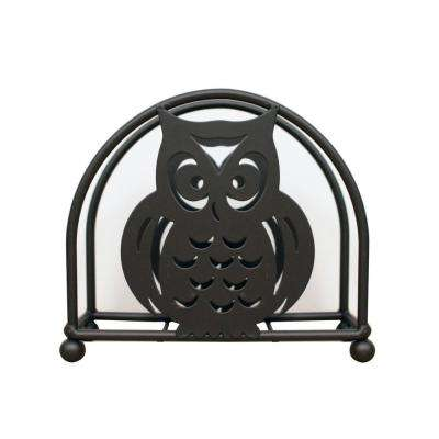 6 in. x 5.25 in. x 2 in. Owl Napkin Holder in Bronze