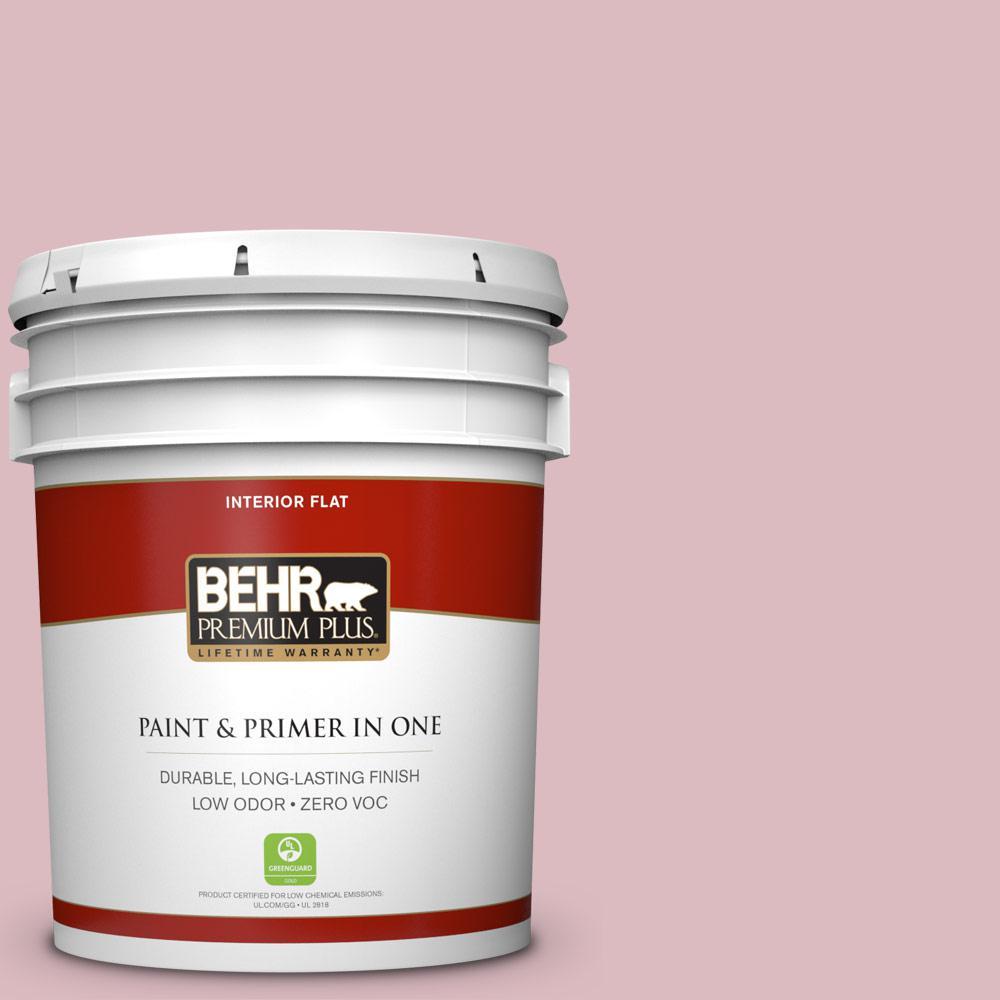 BEHR Premium Plus 5-gal. #S130-2 Shy Smile Flat Interior Paint