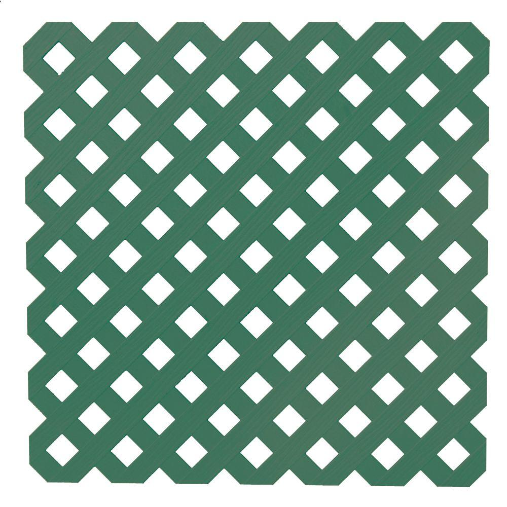 0.2 in. x 48 in. x 8 ft. Forest Green Privacy