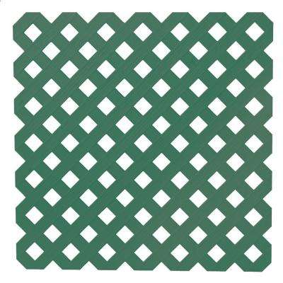 0.2 in. x 48 in. x 8 ft. Forest Green Privacy Plastic Lattice