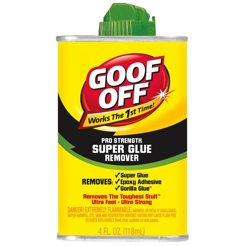 goof off 4 oz super glue remover fg677 the home depot. Black Bedroom Furniture Sets. Home Design Ideas