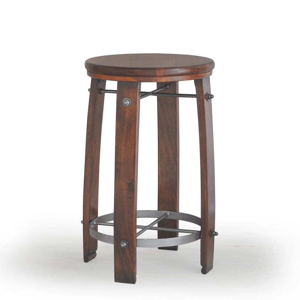 Carolina Cottage Woodford 24 In Chestnut Barrel Stool