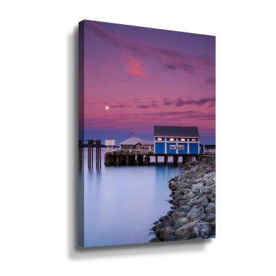 Moon over Sidney fish market' by Shawn & Corinne severn Canvas Wall Art