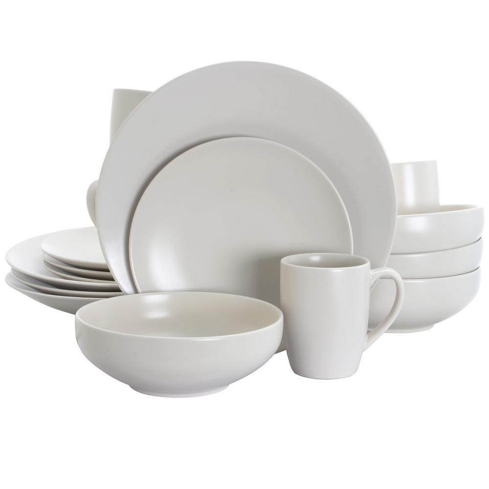 Paradiso Linen 16-Piece White Dinnerware Set