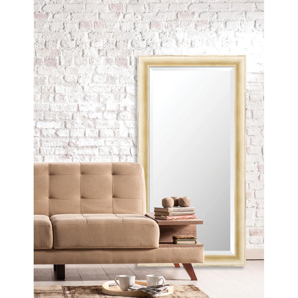 Acadia 25 in. x 49 in. Transitional Framed Bevel Mirror