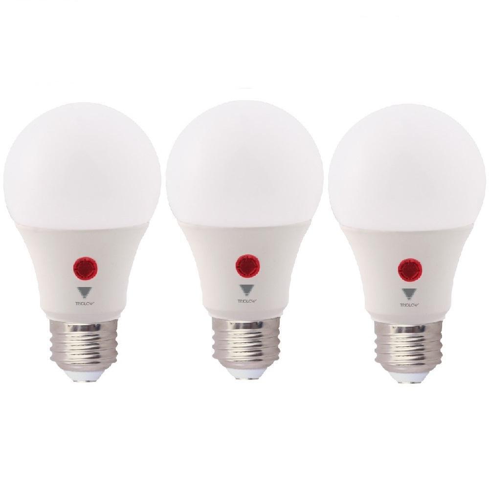 60-Watt Equivalent A19 800 Lumens Dusk To Dawn LED Light Bulb, Soft White 3000K (3-Pack)