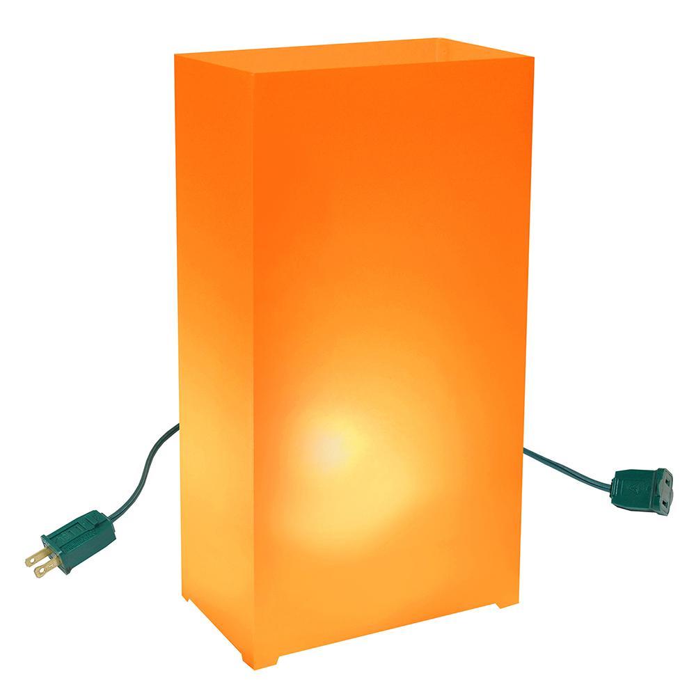 Orange Lighted Electric Luminaria Kit (10-Count String)
