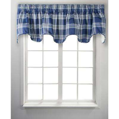 Bartlett 17 in. L Cotton Lined Scallop Valance in Blue