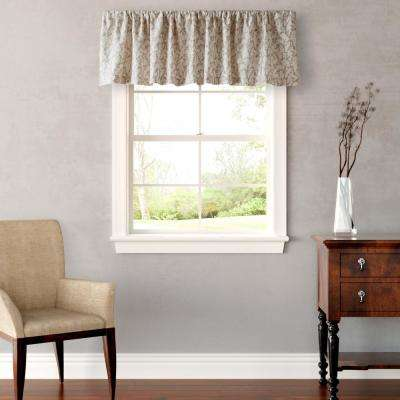 Victoria 15 in. L Cotton Pole Top Valance in Taupe