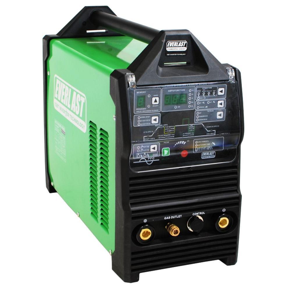 325 Amp PowerTIG 325LX IGBT Digital Inverter AC/DC Stick/TIG Welder with High Frequency and Lift TIG Start, 240V
