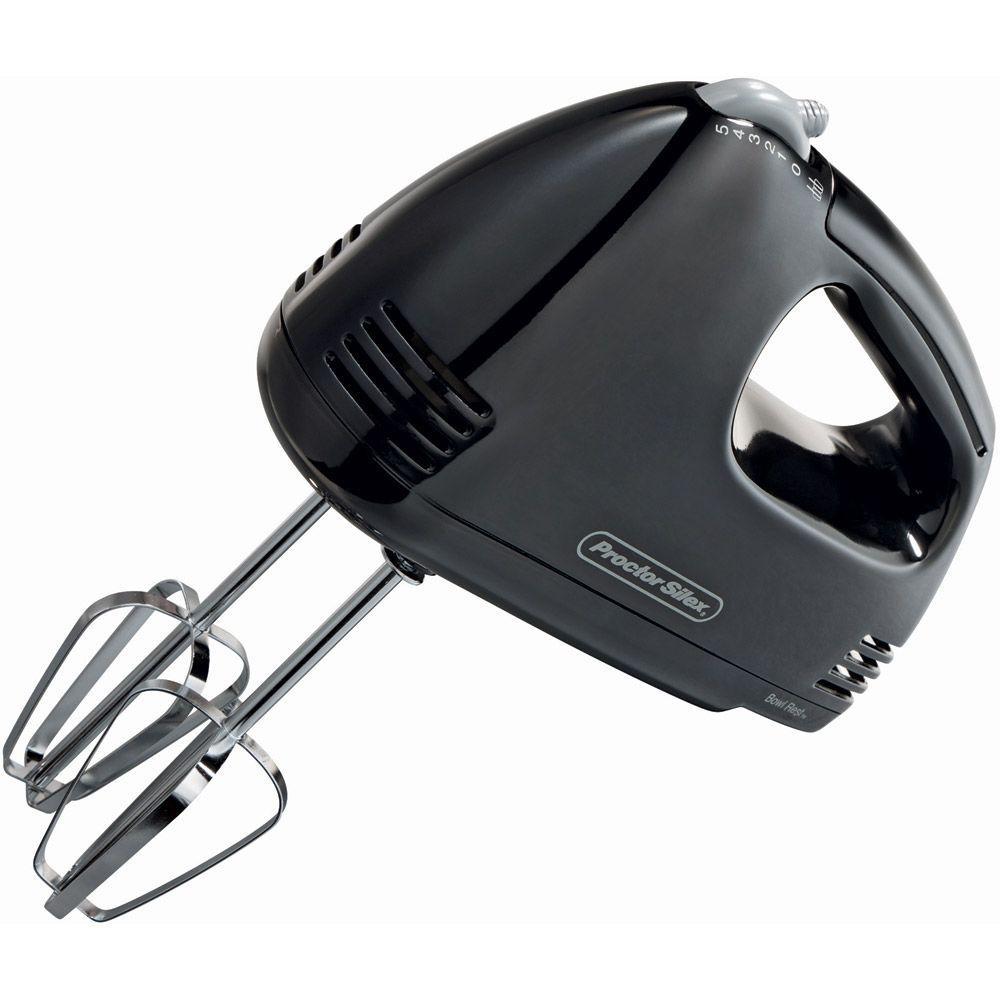 Proctor Silex Easy Mix 5-Speed Black Hand Mixer