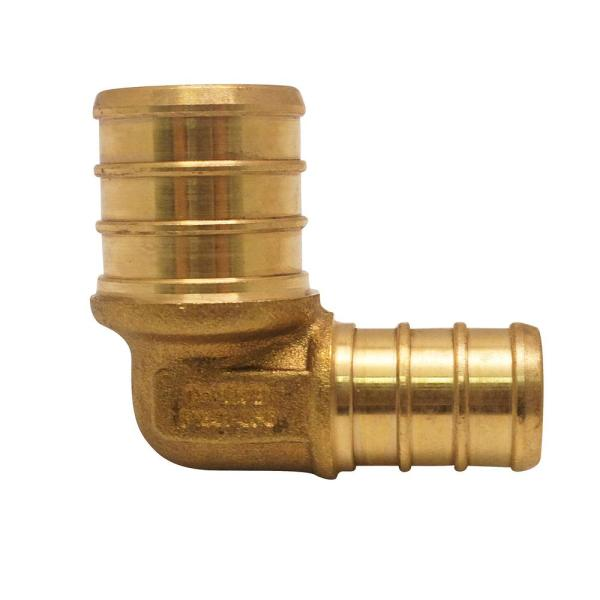 3/4 in. x 1/2 in. Brass PEX Barb 90-Degree Reducing Elbow