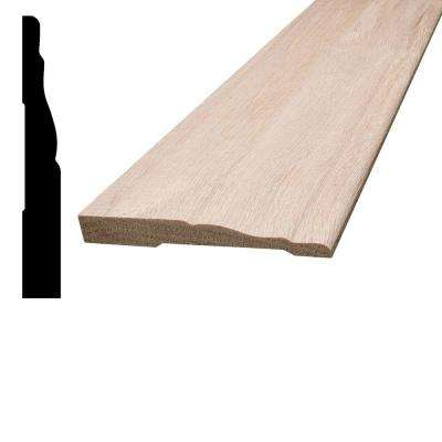 7/16 in. x 3-1/4 in. x 96 in. Oak Base Moulding