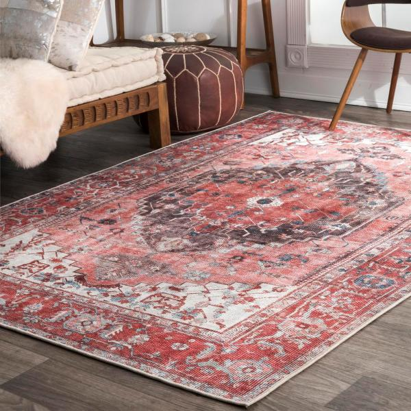 Nuloom Ada Transitional Pink Multi 5 Ft X 8 Ft Area Rug Bimr02a 508 The Home Depot
