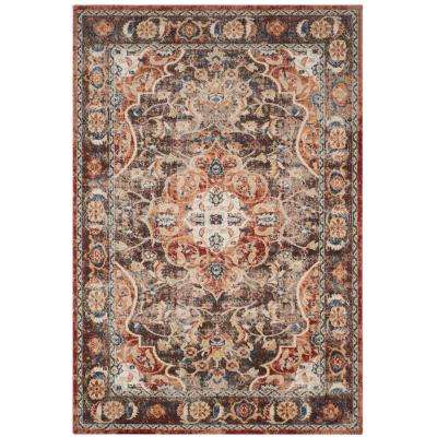 Bijar Brown/Rust 5 ft. x 8 ft. Area Rug