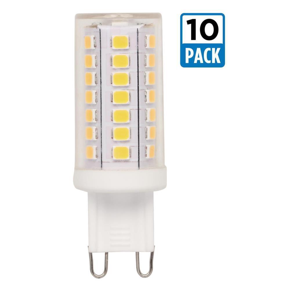 40-Watt Equivalent G9 Dimmable LED Light Bulb Bright White (10-Pack)