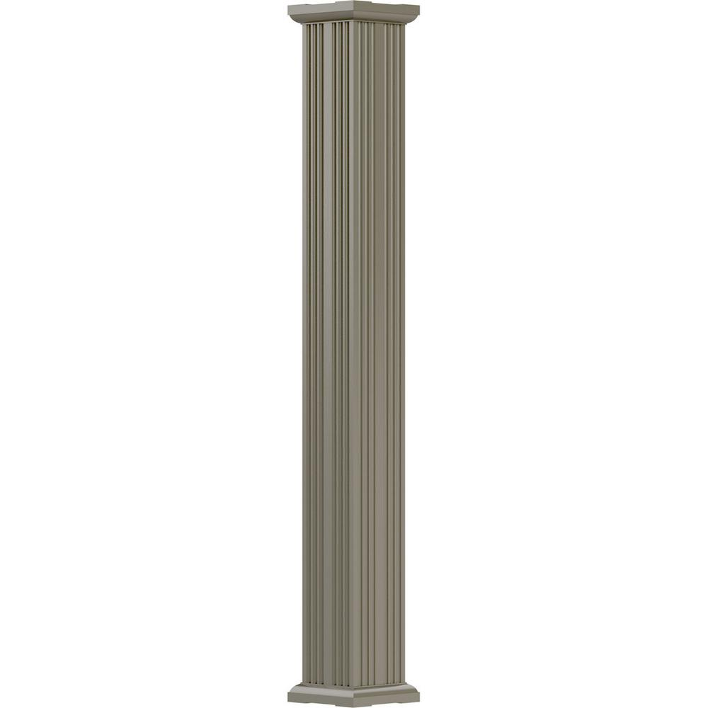3-1/2 in. x 10 ft. Wicker Non-Tapered Fluted Square Shaft Endura-Aluminum