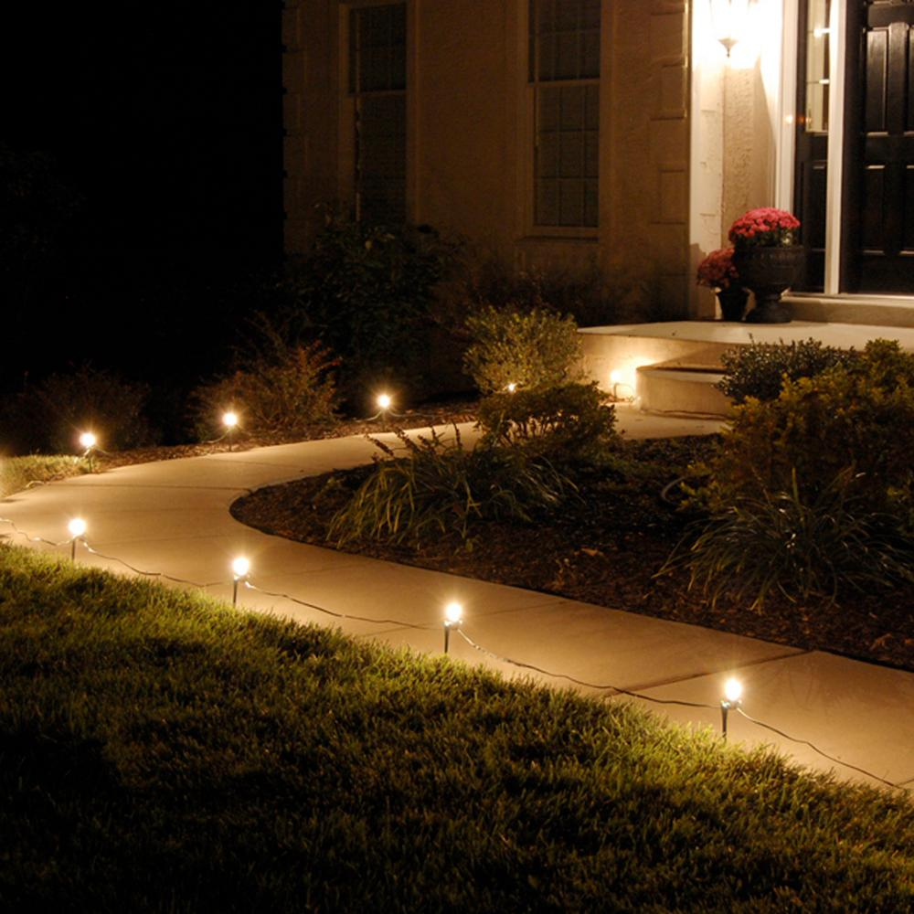 Christmas Pathway Lights.Lumabase Pathway Clear String Lights Set Of 10 61010 The