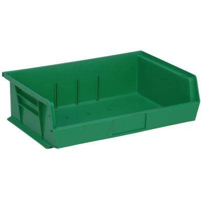 Ultra Series Stack and Hang 7.2 Gal. Storage Bin in Green (6-Pack)
