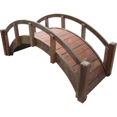 29 in. Miniature Japanese Wood Garden Bridge - Treated