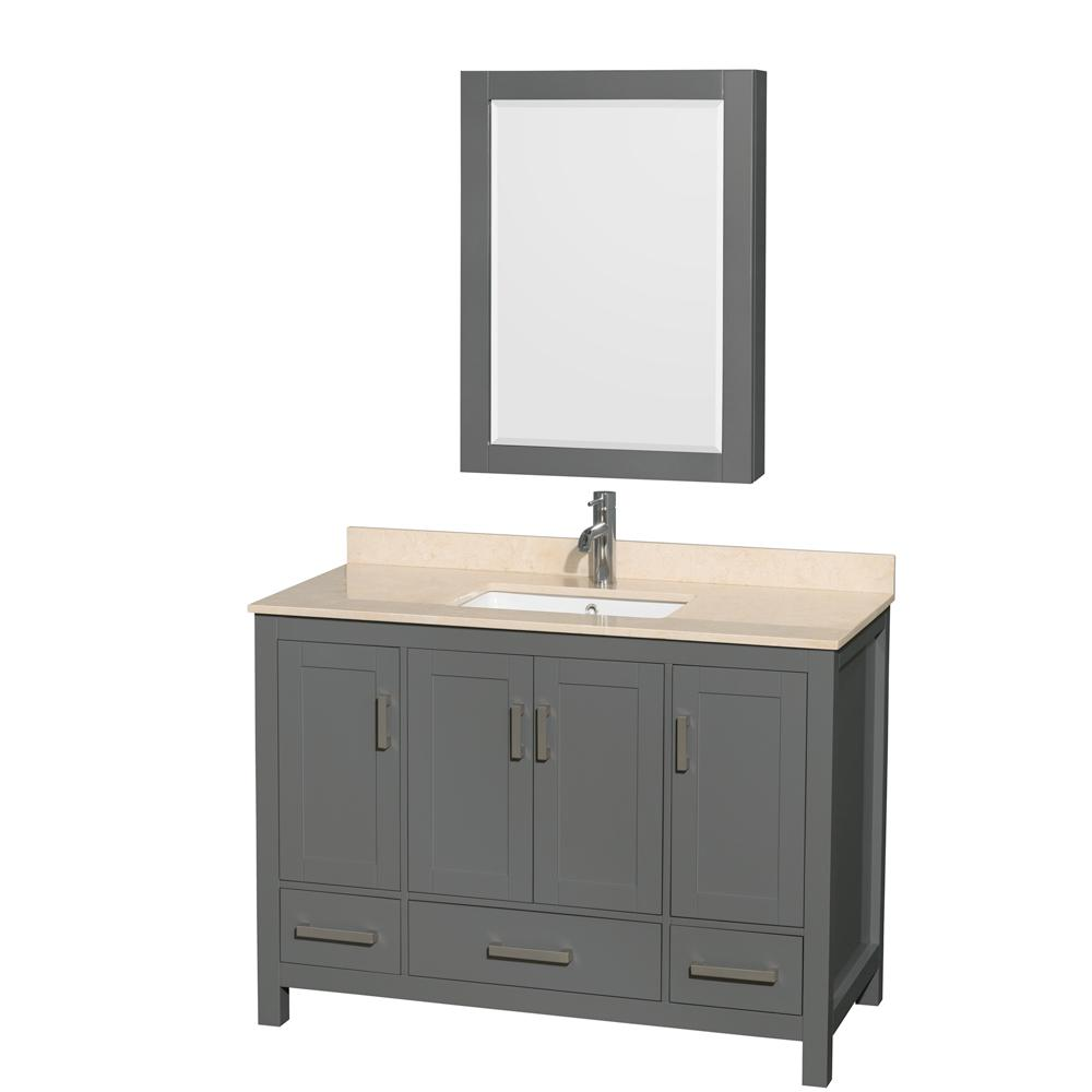 Wyndham collection sheffield 48 in w x 22 in d vanity in for 12 x 48 bathroom window