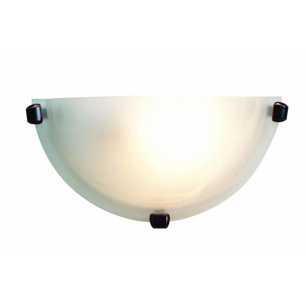 Access Lighting Mona 1 Light Oil-Rubbed Bronze Sconce with Alabaster Glass Shade