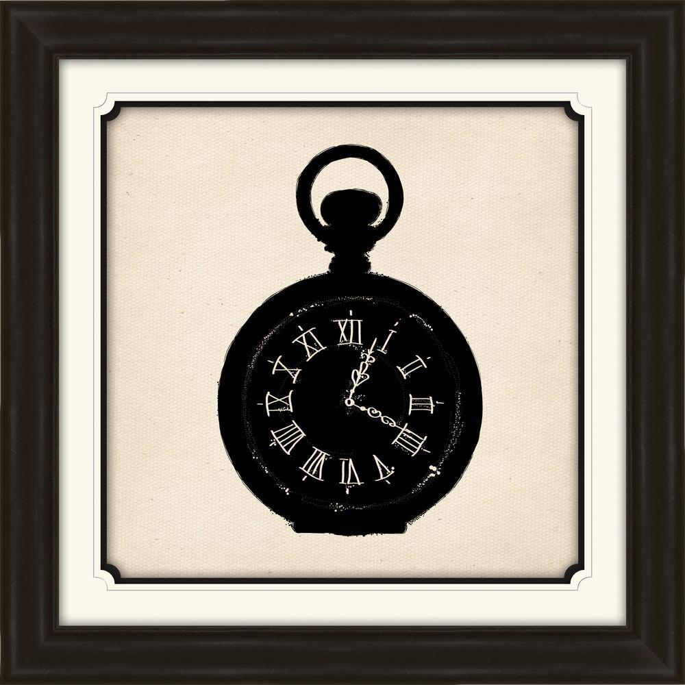 "PTM Images 29 in. x 29 in. ""Pocket Watch"" Framed Wall Art"