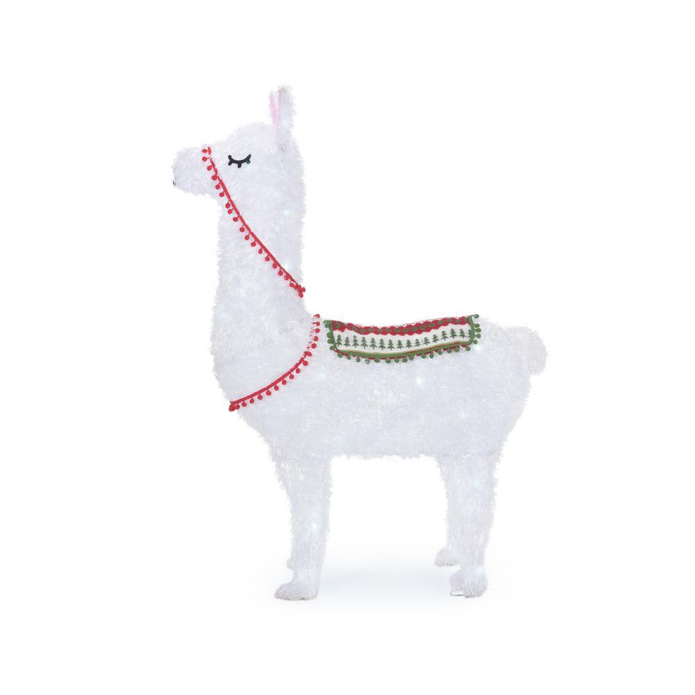 45 in. Christmas Cool White LED Llama