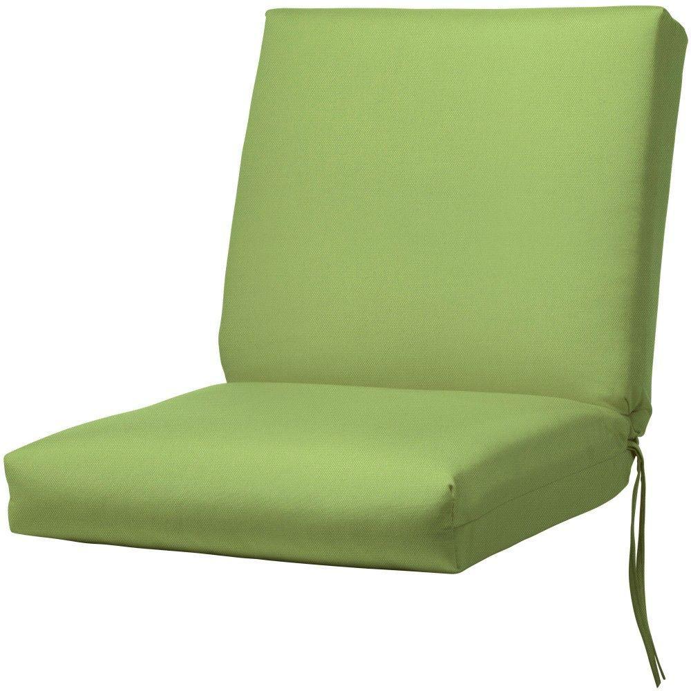 Sunbrella Canvas Parrot Outdoor Dining Chair Cushion